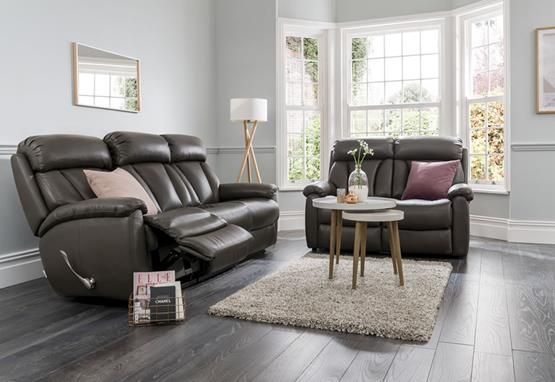 Georgina range featuring recliners, sofas and chairs