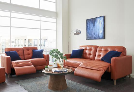 Lisbon range featuring recliners, sofas and chairs