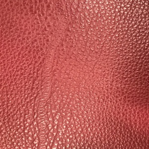 Bordeaux leather swatch