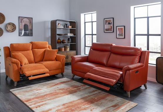 Kenzie range featuring recliners, sofas and chairs