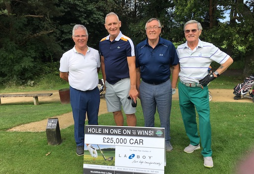 Furniture golf event raises record amount for charity image